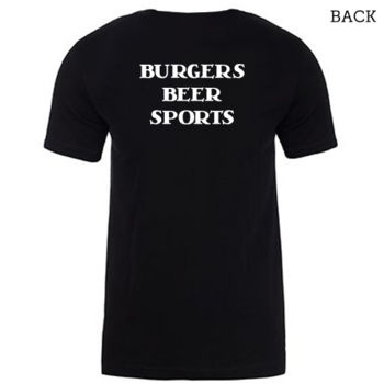 """Burgers Beer Sports"" T-Shirt Thumbnail"
